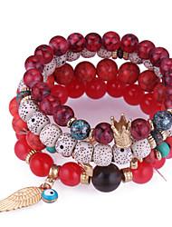 cheap -Stack Link Bracelet - Resin Wings, Crown European, Fashion Bracelet Dark Blue / Red / Blue For Daily