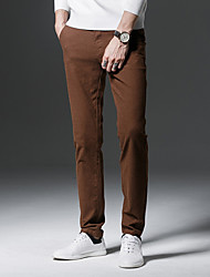 cheap -Men's Basic Chinos Pants - Solid Colored