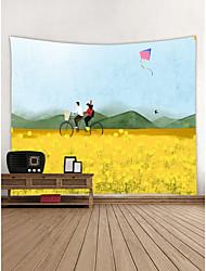 abordables -Thème jardin Cyclisme Décoration murale Polyester Moderne Art mural, Tapisseries murales Décoration