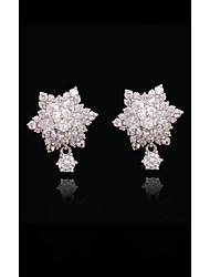 abordables -Femme Cristal Perle Plaqué or S925 argent sterling Fleur Balle Européen Mode Bijoux Blanc et argent Adorable pour Plein Air Vacances 1pc