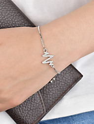 cheap -Women's Single Strand Bracelet - Letter Stylish, Classic Bracelet Silver For Daily