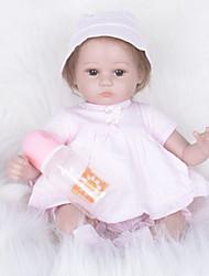baratos -FeelWind Bonecas Reborn Bebês Meninas 16 polegada realista, Olhos Castanhos de Implantação Artificial de Criança Para Meninas Dom