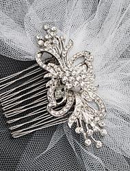 baratos -Liga Pentes de cabelo com Cristais 1 Peça Casamento / Roupa Diária Capacete