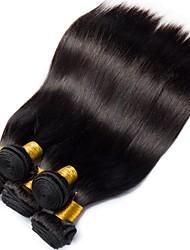 baratos -6 pacotes Cabelo Peruviano Liso 8A Cabelo Humano Cabelo Humano Ondulado Extensor Cabelo Bundle 8-28 polegada Preta Côr Natural Tramas de cabelo humano Fabrico à Máquina Clássico Melhor qualidade Para