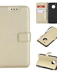 cheap -Case For Motorola MOTO G5 Plus / MOTO G5 Wallet / Card Holder / Flip Full Body Cases Solid Colored Hard PU Leather for Moto G5s Plus / Moto G5s / Moto G5 Plus