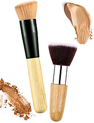 cheap -2 Makeup Brushes Professional Blush Brush / Concealer Brush / Powder Brush Nylon / Synthetic Hair Eco-friendly / Professional / Soft Wooden / Metal Middle Brush / Universal / High Quality