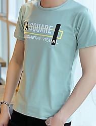 baratos -Homens Camiseta Básico Letra