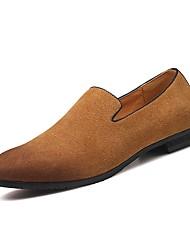 Недорогие -Муж. Замша / Полиуретан Лето Удобная обувь Мокасины и Свитер Серый / Коричневый / Синий