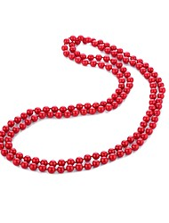 cheap -Women's Pearl Long Necklace  -  Pearl Artistic, Asian, Luxury Red 140 cm Necklace 1pc For Formal, Birthday