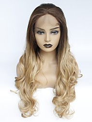 cheap -Synthetic Lace Front Wig Wavy Middle Part Synthetic Hair Heat Resistant / Women / Middle Part Ombre Wig Women's Long Lace Front Wig / Yes