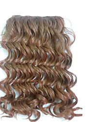 billige -Syntetiske parykker Syntetiske udstrækninger Krøllet Syntetisk hår 12 tommer Hårpåsætning Clips på Brun 1 stk Varme resistent Fest Dame Dame Halloween Daglig Dagligdagstøj
