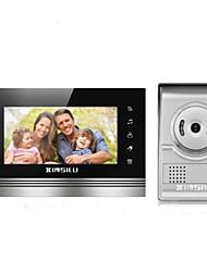 Недорогие -XINSILU XSL-V70K-L+ sliver 7 дюймовый Гарнитура 800*480 пиксель Один к одному видео домофона