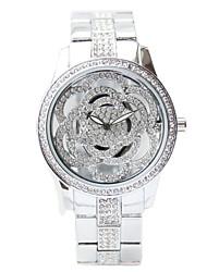 billige -Dame Kjoleur Japansk Quartz 50 m Kronograf Kreativ Rustfrit stål Bånd Analog Elegant Sølv - Guld Sølv