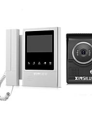abordables -XINSILU XSL-V43E168 Câblé 4.3 pouce Système Mains-Libres / Telephone 480*272 Pixel interphone vidéo