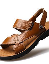 Недорогие -Муж. Искусственная кожа Лето Удобная обувь Сандалии Черный / Желтый / Коричневый