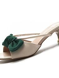 abordables -Femme Chaussures Polyuréthane Eté A Bride Arrière Sandales Kitten Heel Jaune Clair / Vert / Rose dragée clair / Mariage