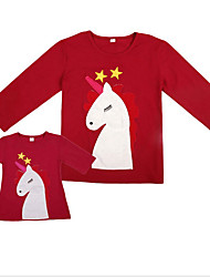 cheap -Mommy and Me Basic Holiday Animal Long Sleeve Tee