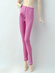 tanie Ubranka dla lalek Barbie-Spodnie Szorty i spodnie i legginsy Dla Lalka Barbie Różowy Stretch satyna / Poly / Cotton Mieszanka Spodnie Dla Dziewczyny Lalka Zabawka