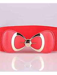 cheap -Women's Street chic Alloy Wide Belt - Solid Colored / PU