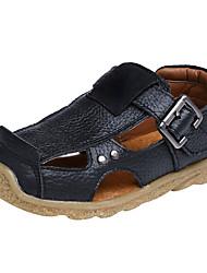 Недорогие -Мальчики Обувь Синтетика Лето Удобная обувь Сандалии для Черный / Коричневый / Синий