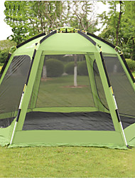 cheap -Shamocamel® 5 - 7 person Screen House Double Layered Automatic Dome Camping Tent One Room  Outdoor Windproof >3000 mm  for Camping / Hiking / Caving Terylene 368*368*190 cm / Rain-Proof