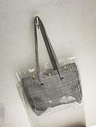 baratos -Mulheres Bolsas PVC / Palha Conjuntos de saco 2 Pcs Purse Set Botões Preto / Vermelho / Khaki