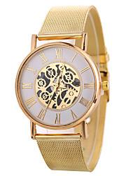 baratos -Xu™ Mulheres senhoras Relógio Elegante Relógio de Pulso Quartzo Criativo Relógio Casual Mostrador Grande Lega Banda Analógico Fashion Esqueleto Preta / Prata / Dourada - Dourado Preto Prata Um ano