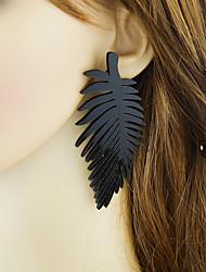 Недорогие -Жен. Через плечо Серьги-слезки - В форме листа Классический, Мода Черный Назначение Повседневные / Свидание