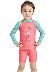 abordables -Fille Combinaison Fine Protection UV contre le soleil, Séchage rapide, UPF50+ Polyester / Nylon / Spandex Manches Longues Maillots de Bain Tenues de plage Combinaisons / Tee-shirts anti-UV, tops
