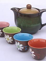 Недорогие -Фарфор / Керамика Чайный 5 ед. чайник / Чашка