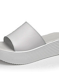 cheap -Women's Shoes Cowhide Spring & Summer Comfort Sandals Creepers White / Black