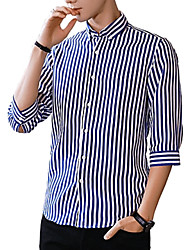 cheap -Men's Business / Basic Shirt - Striped