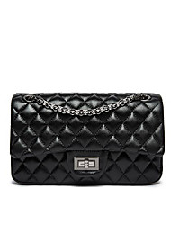 cheap -Women's Bags Faux Leather Shoulder Bag Buttons Black