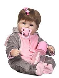 cheap -NPKCOLLECTION Reborn Doll Baby 18 inch Silicone - lifelike, Artificial Implantation Blue Eyes Kid's Girls' Gift