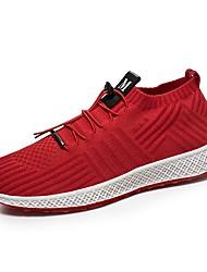 Недорогие -Муж. обувь Сетка Лето Удобная обувь Кеды Черный / Серый / Красный