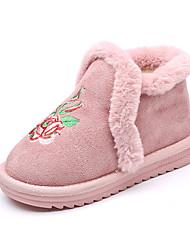 baratos -Para Meninas Sapatos Poliester Inverno Botas de Neve Botas Caminhada para Infantil Preto / Amarelo / Rosa claro / Botas Curtas / Ankle