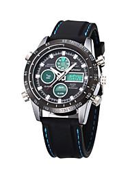 economico -SHIFENMEI Per uomo Orologio sportivo Giapponese Calendario / Resistente all'acqua / LCD Silicone Banda Lusso / Casual Nero / Cronometro