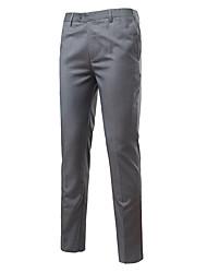 economico -Per uomo Cotone Taglia piccola Da completo Pantaloni - Tinta unita / Ufficio
