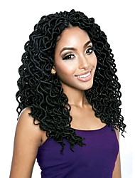 "cheap -Braiding Hair Curly Faux Locs Synthetic Hair 1 Piece, 20 roots / pack Hair Braids Black 18"" Women / Hot Sale / Dreadlock Extensions School / Date / Festival African Braids"