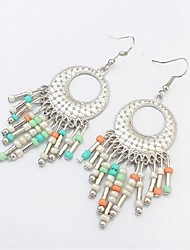 cheap -Women's Drop Earrings - Resin Stylish Rainbow / Red / Blue For Party / Evening / Going out