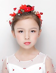 cheap -Alloy Headbands with Acrylic / Flower 1 Piece Wedding / Special Occasion Headpiece