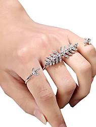 baratos -Mulheres Anéis para Falanges Anel aberto - Liga Formato de Folha Vintage, Elegante 8 / Ajustável Dourado / Prata Para Festa Cerimônia