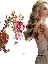 Недорогие -3 pcs Временные тату Временные татуировки Тату с цветами Искусство тела плечо