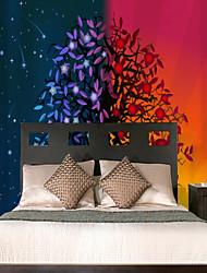 Недорогие -Цвет богатых счастливых деревьев на заказ настенные покрытия 3d настенные обои, подходящие для спальни, гостиной, офиса