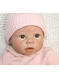 Недорогие -NPKCOLLECTION Куклы реборн Дети 24 дюймовый Силикон - Новорожденный Подарок Безопасно для детей Non Toxic Гофрированные и запечатанные ногти Естественный тон кожи Детские Девочки Игрушки Подарок