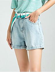 povoljno -žene slim kratke hlače - solidne boje