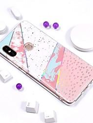 abordables -Coque Pour Xiaomi Redmi Note 5 Pro / Redmi 5 Plus Plaqué / IMD / Motif Coque Marbre Flexible TPU pour Xiaomi Redmi Note 5 Pro / Redmi 5A / Xiaomi Redmi 5 Plus