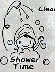 Недорогие -Наклейки и ленты / Аппликации для ванной / Стикер для ванной Новый дизайн / Водонепроницаемый / Самоклеющиеся Обычные / Модерн ПВХ 1шт