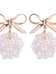 cheap -Women's Drop Earrings - Imitation Pearl Stylish Gold / White For Daily / Office & Career