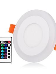 Недорогие -ZDM® 1 комплект 3 W 30 Светодиодные бусины Пульт управления Диммируемая Простая установка Осветительная панель LED даунлайт RGB + теплый RGB + белый 85-265 V Деловой Выступление Дом / офис / RoHs